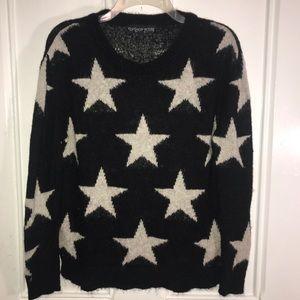 Topshop Petite Mohair Blend Star Print Sweater